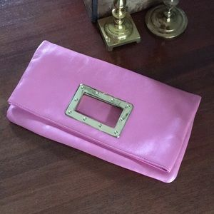 Banana Republic Leather Pink Clutch🌸🌸🌸